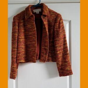 Vintage Rena Rowan Multi Colored Blazer Size 14 P
